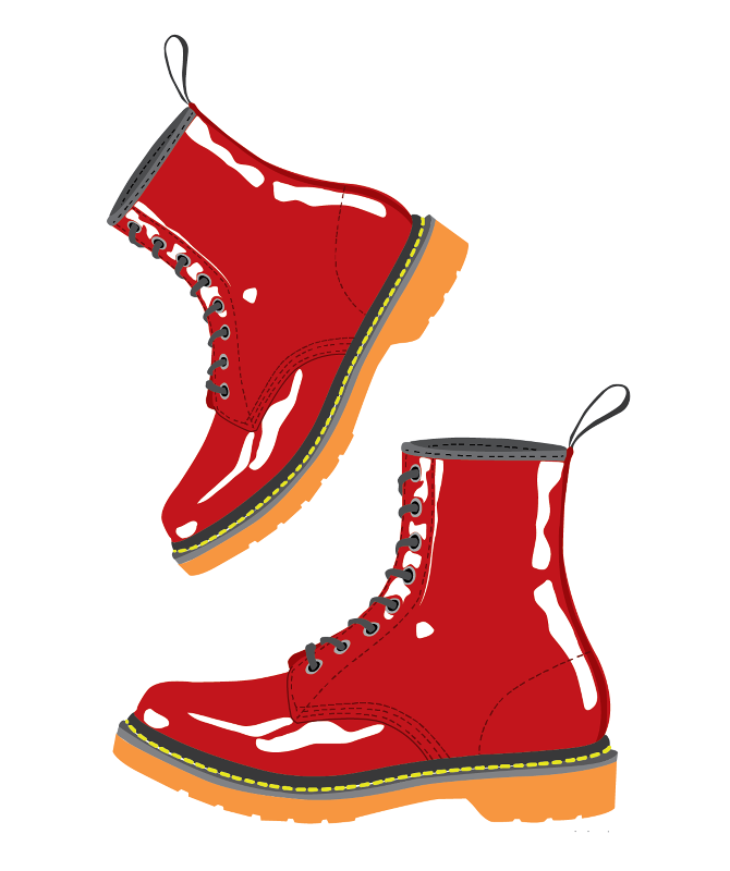 Red DM Boots
