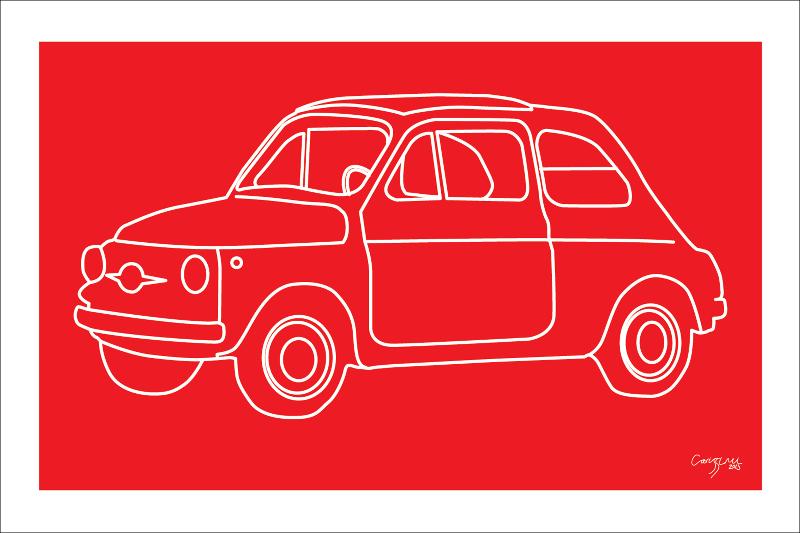 Red Vintage 500