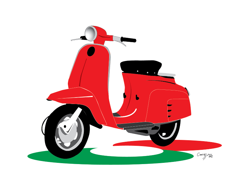 Retro Italian Moped