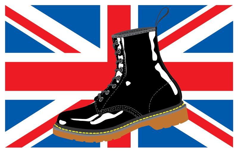 Union Jack DM Boot