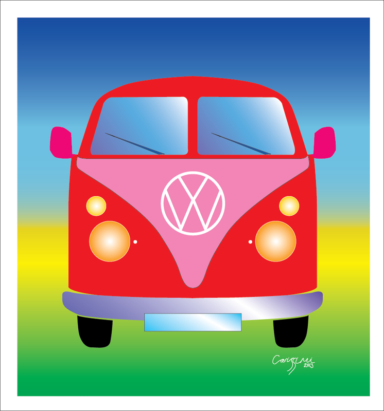 VW Camper Retro Colour