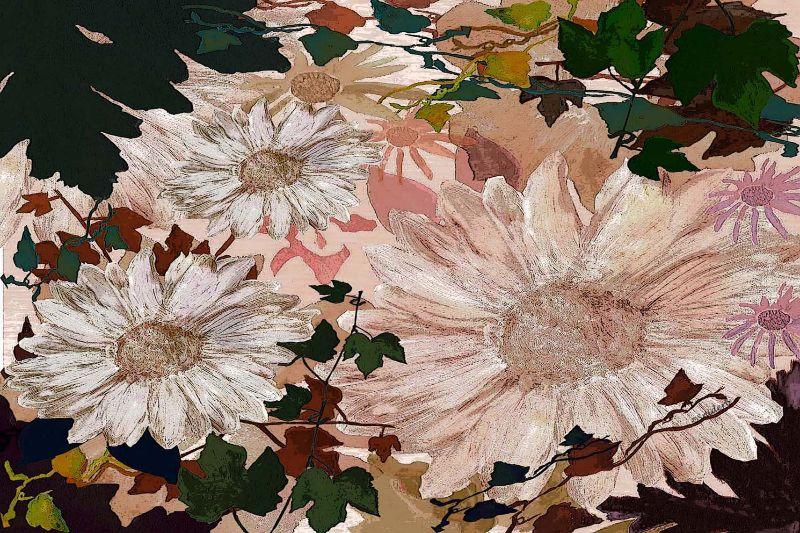 Floral In Brown
