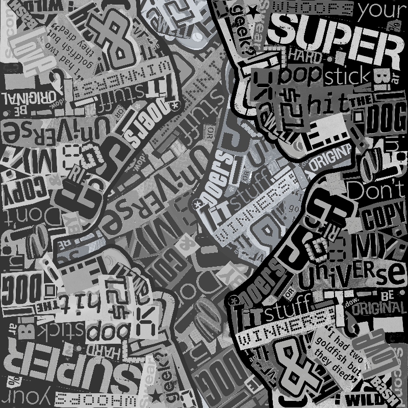Typography Collage