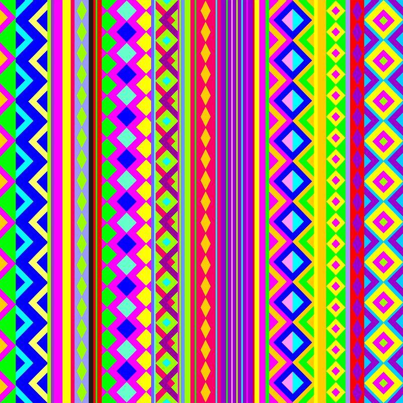 Aztec Psychedelic Chevron