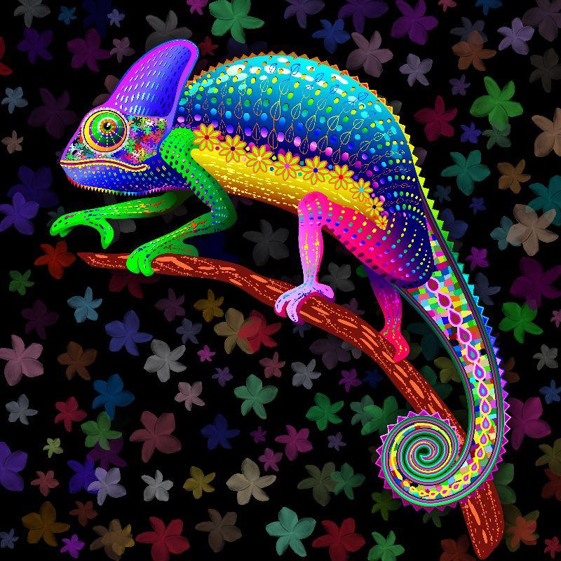 Chameleon Fantasy Rainbow