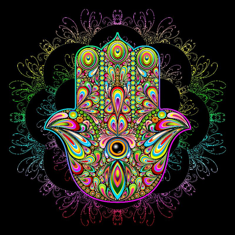 Hamsa Hand Psychedelic