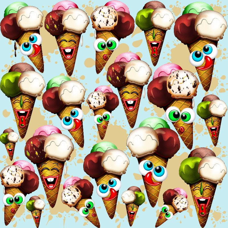 Ice Cream Cones Cartoon