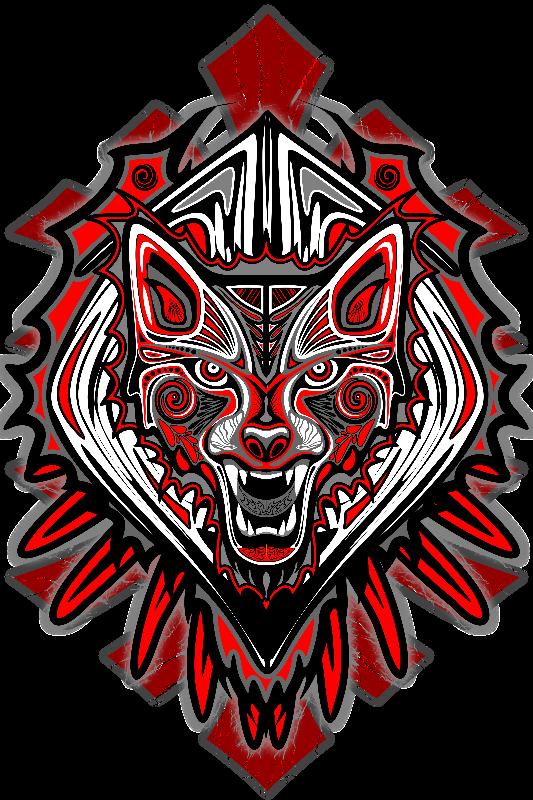 Wolf Tattoo Haida Art
