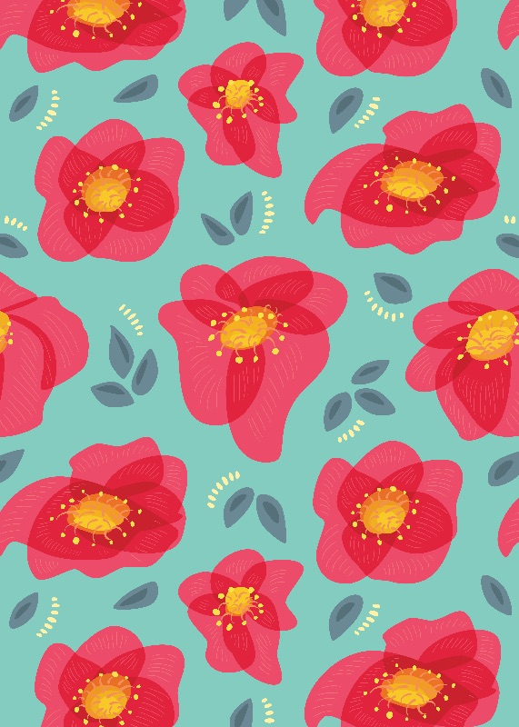 Abstract Poppies Pattern