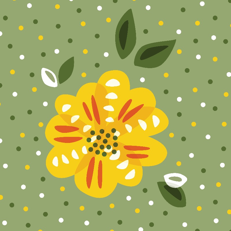 Abstract Yellow Primrose