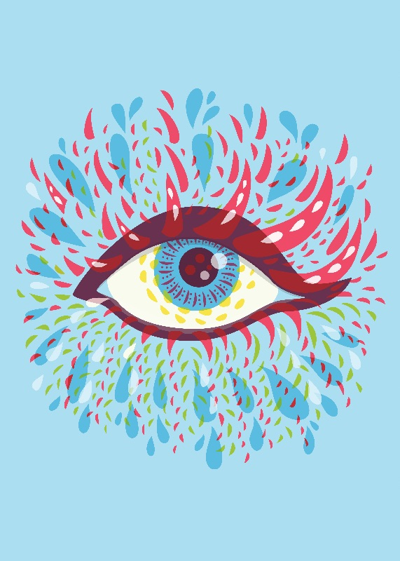 Blue Psychedelic Eye