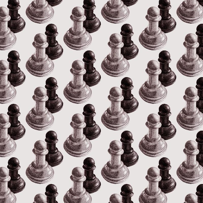 Drawn Chess Pawns Pattern