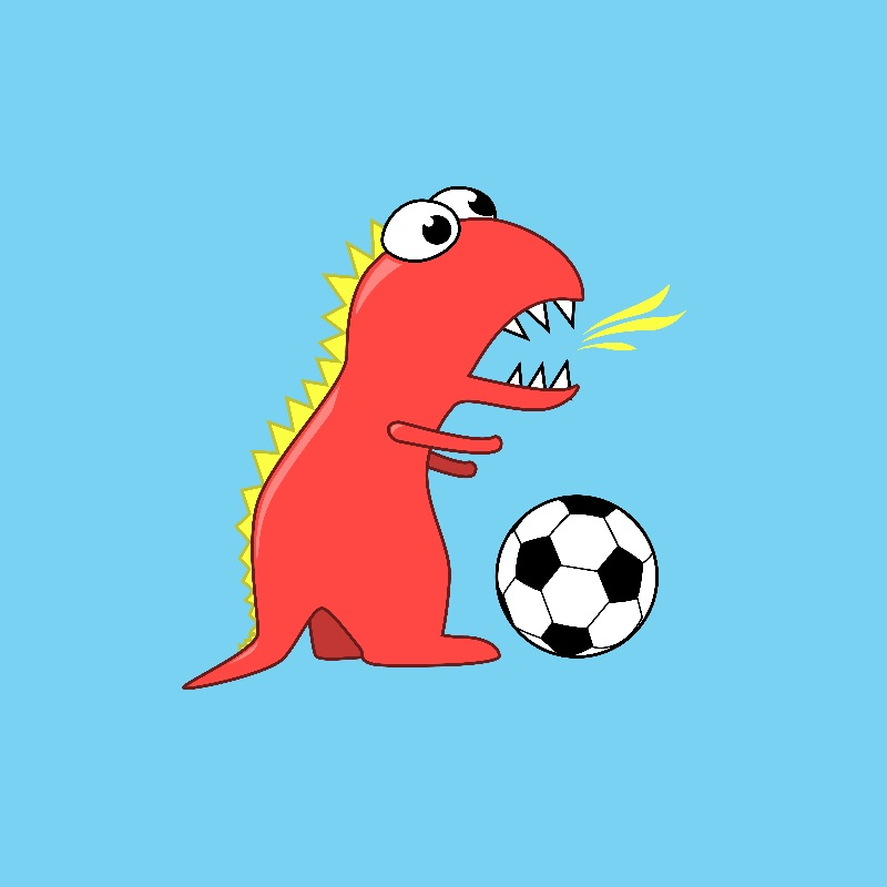 Football Playing Dinosaur