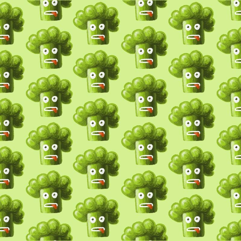 Funny Broccoli Pattern