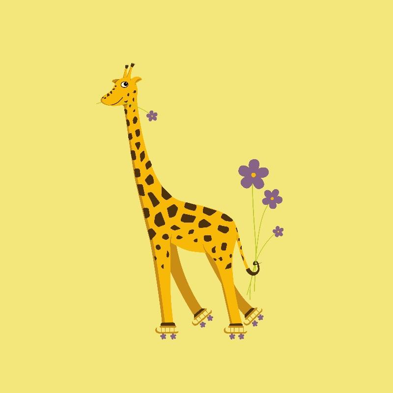 Funny ySkating Giraffe