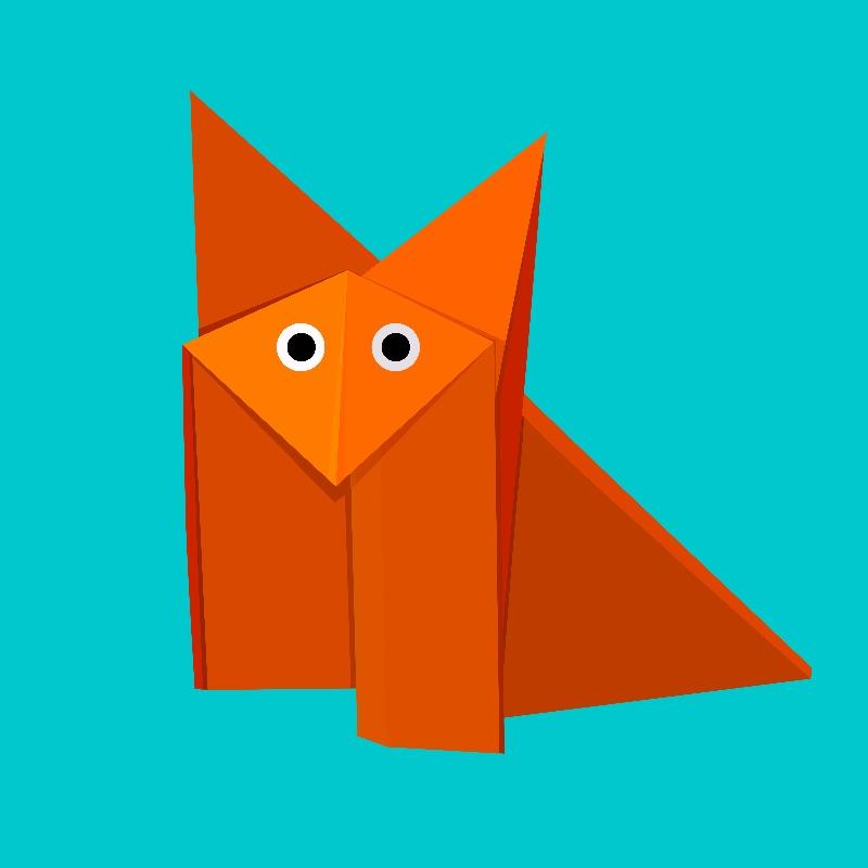 Geometric Origami Fox