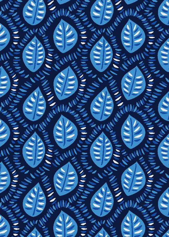 Pretty Blue Leaf Pattern
