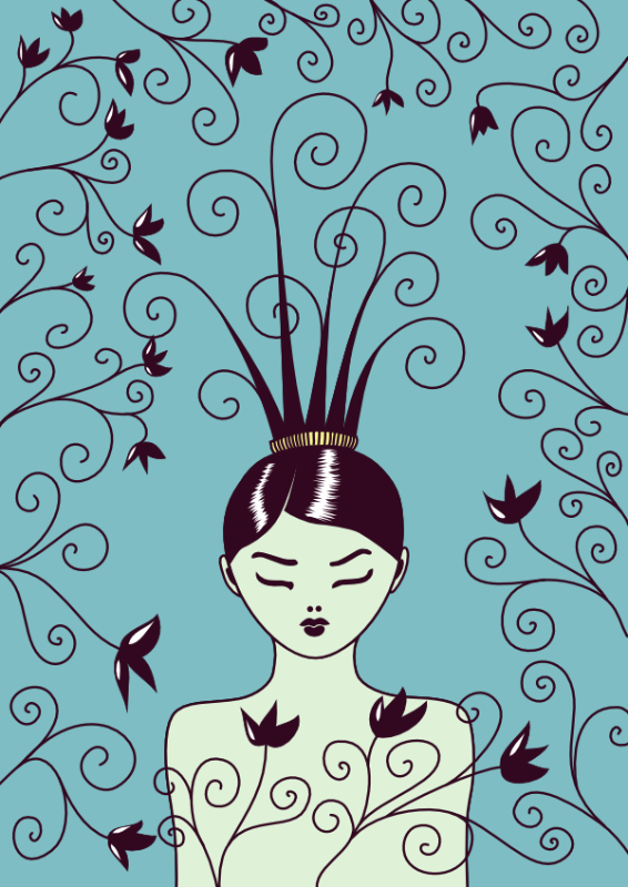 Pretty Swirly Haired Girl