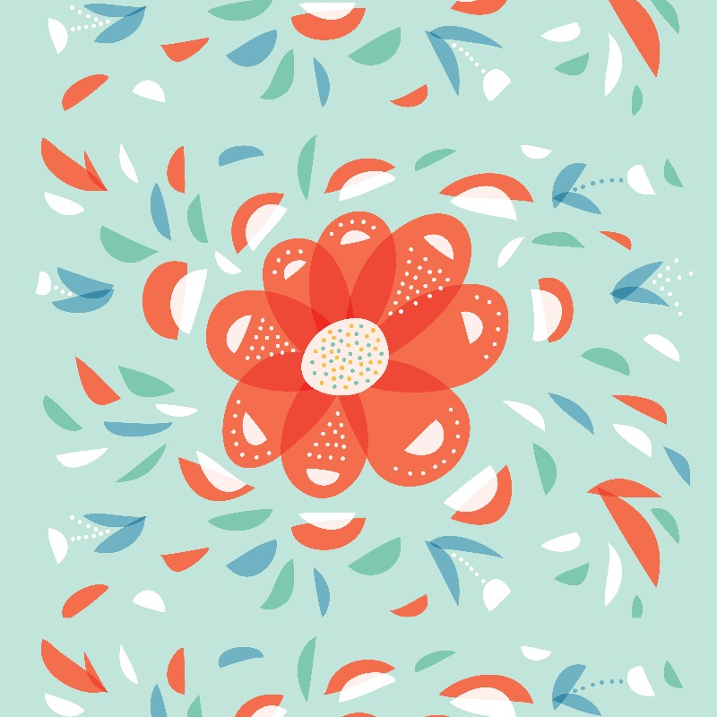 Whimsical Red Flower
