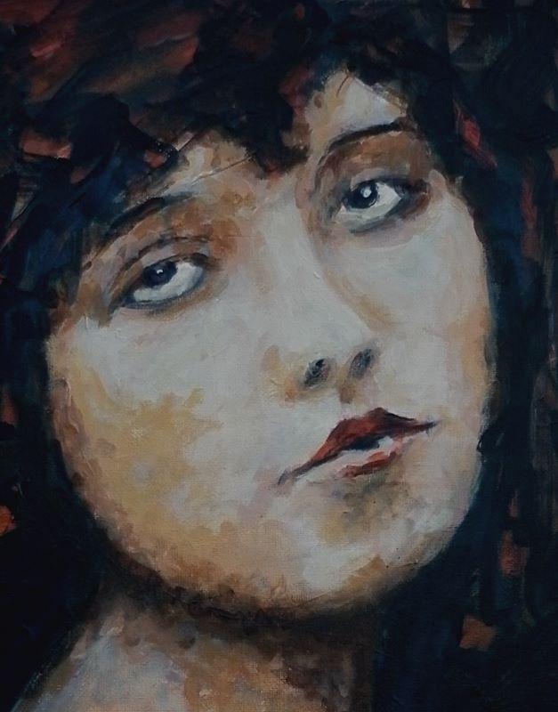 Clara Bow Detail
