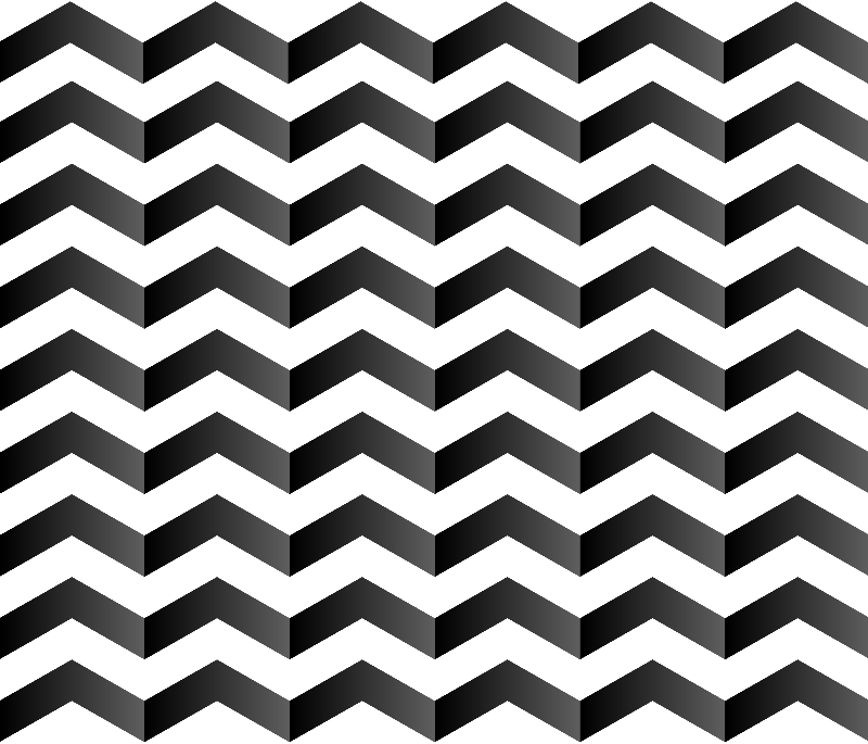 Chevron optical illusion