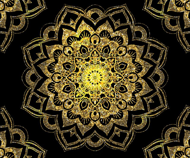 Golden Mandala on Black