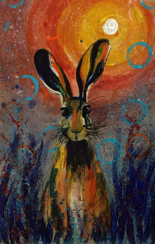 Staring hare 2