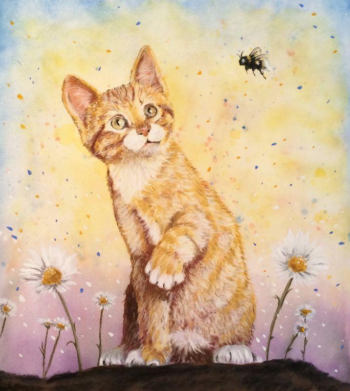 Spring Fling Kitten Cat