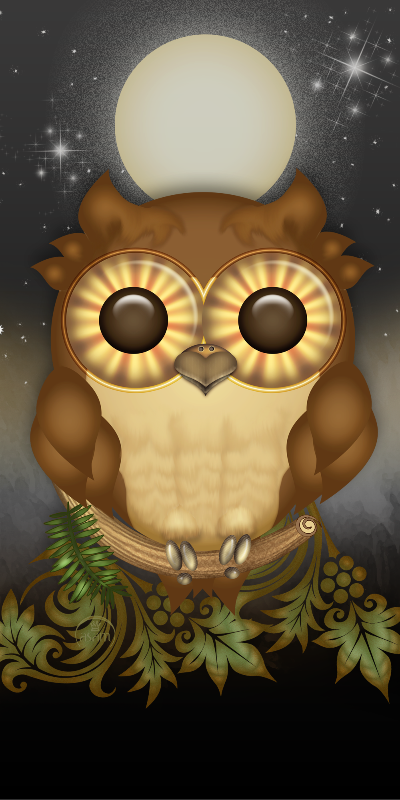 Funny Brown Owl