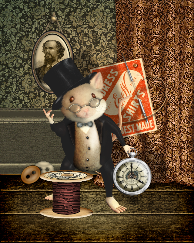 Victorian Sewing Mouse