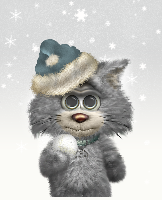 Winter Kitty Cat