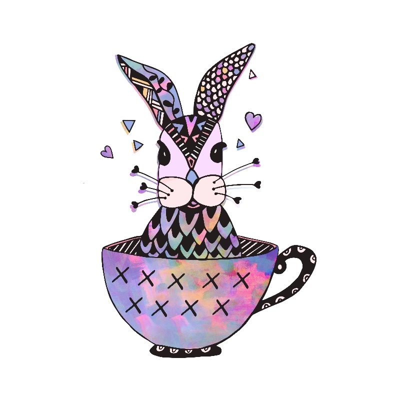 Rabbit in a tea cup