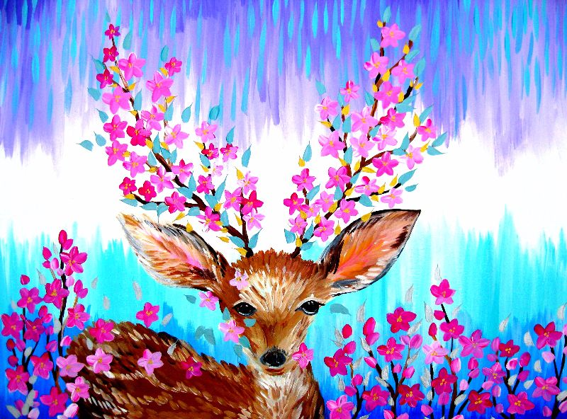 Fawn with Sakura