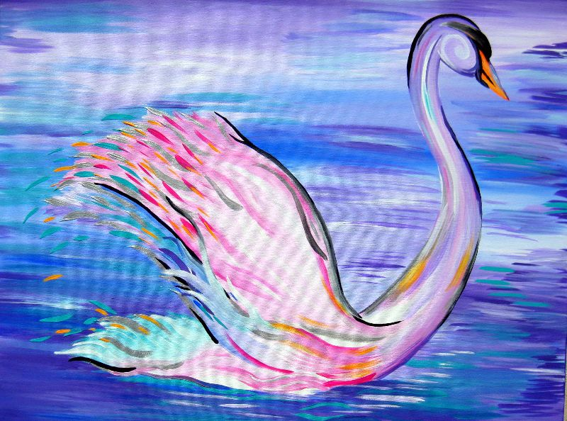 Whimsical Swan