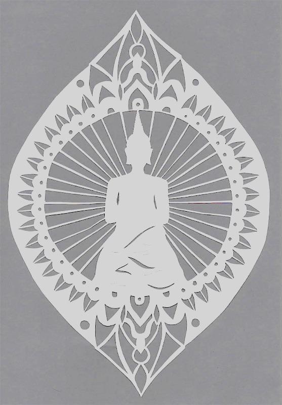 Buddha papercut design