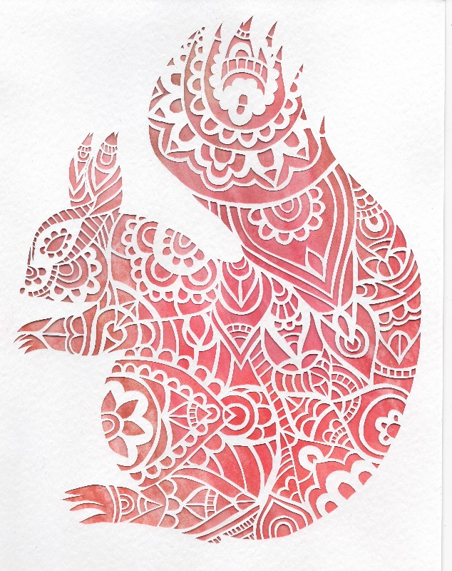 Squirrel papercut