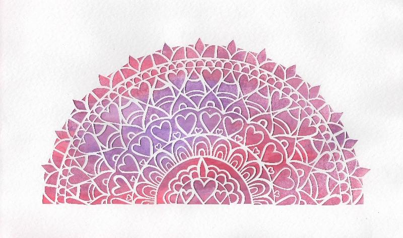 half mandala papercut