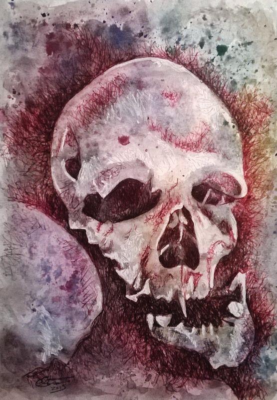 Paris Catacombs Skull