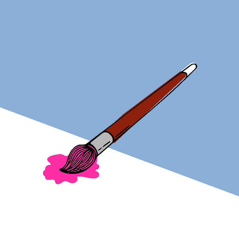 A brush for painting