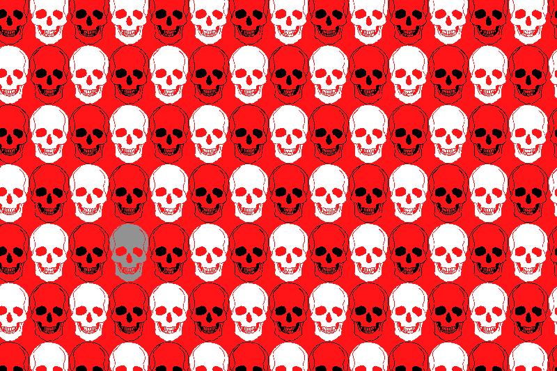 Skulls repeating