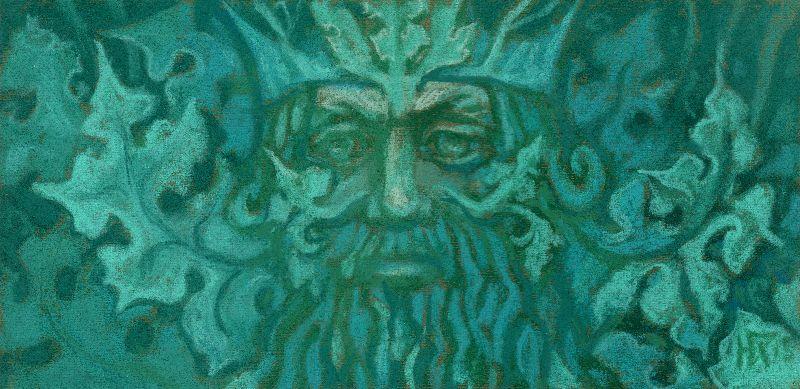 Green Man fantasy art