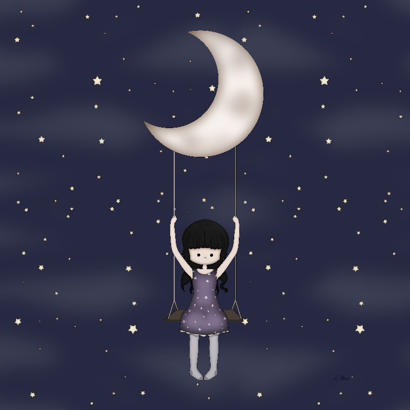 Girl on the Moon