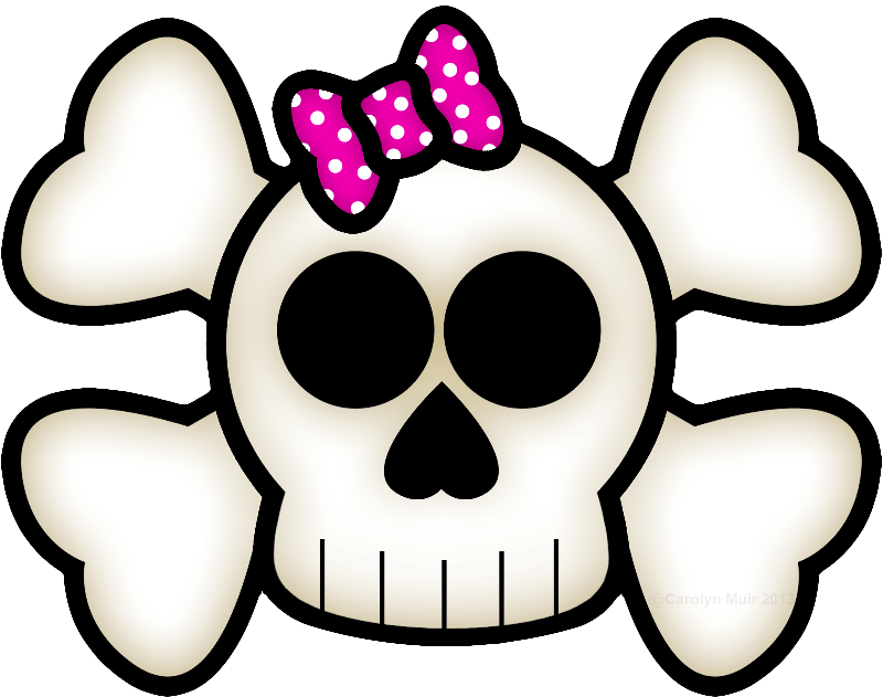Kawaii Skull  Crossbones