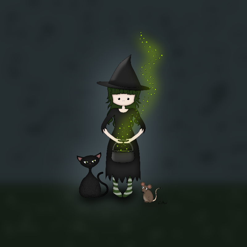 Whimsical Little Witch