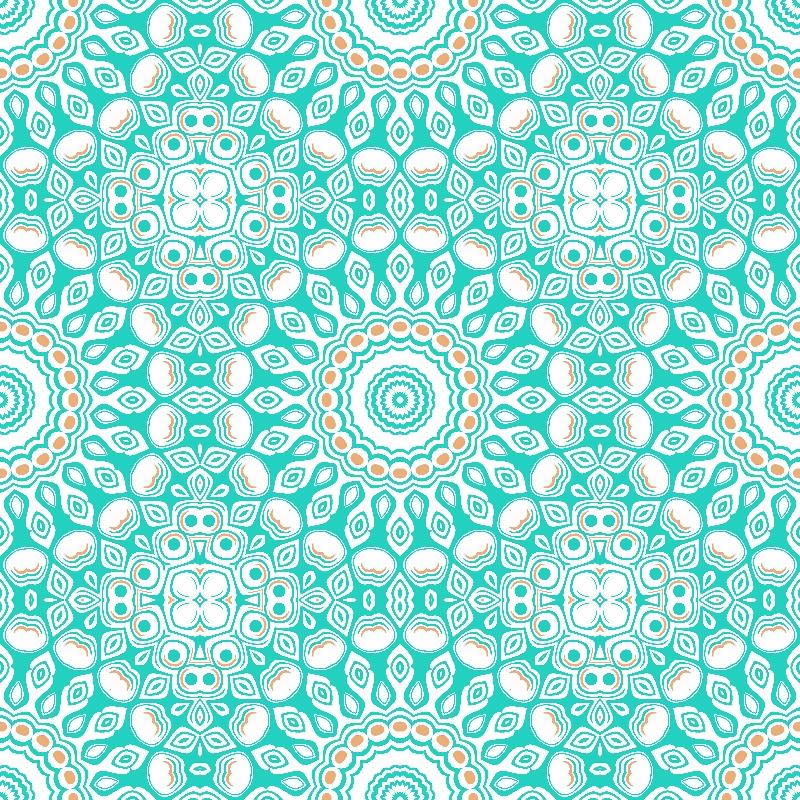 Aqua Kaleidoscope Mandala
