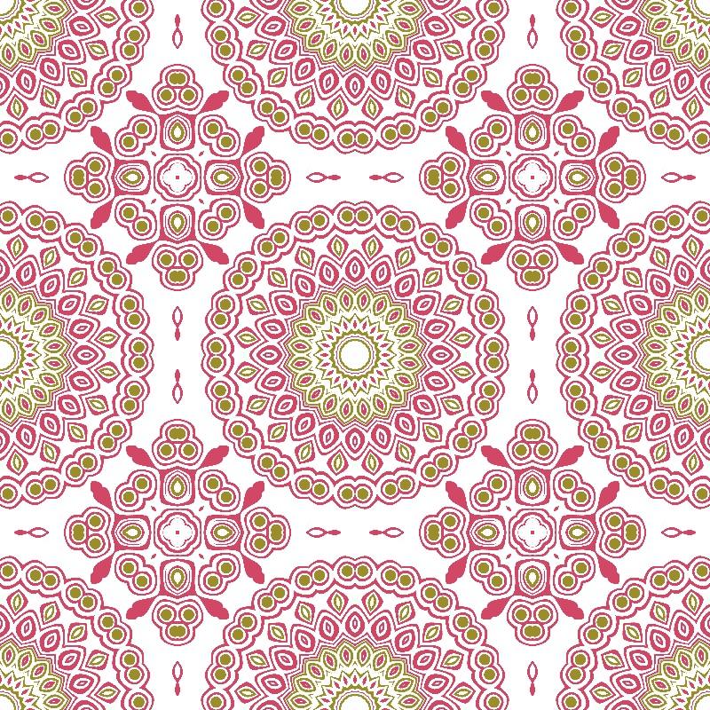 Kaleidoscope Rose  Olive
