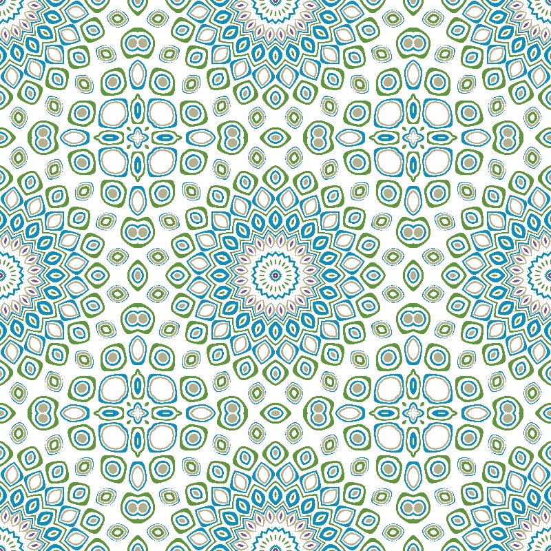 Kaleidoscope in Blue