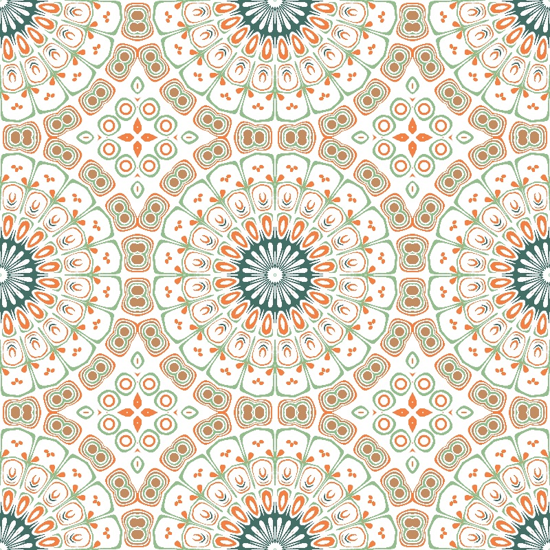 Kaleidoscope in Brown