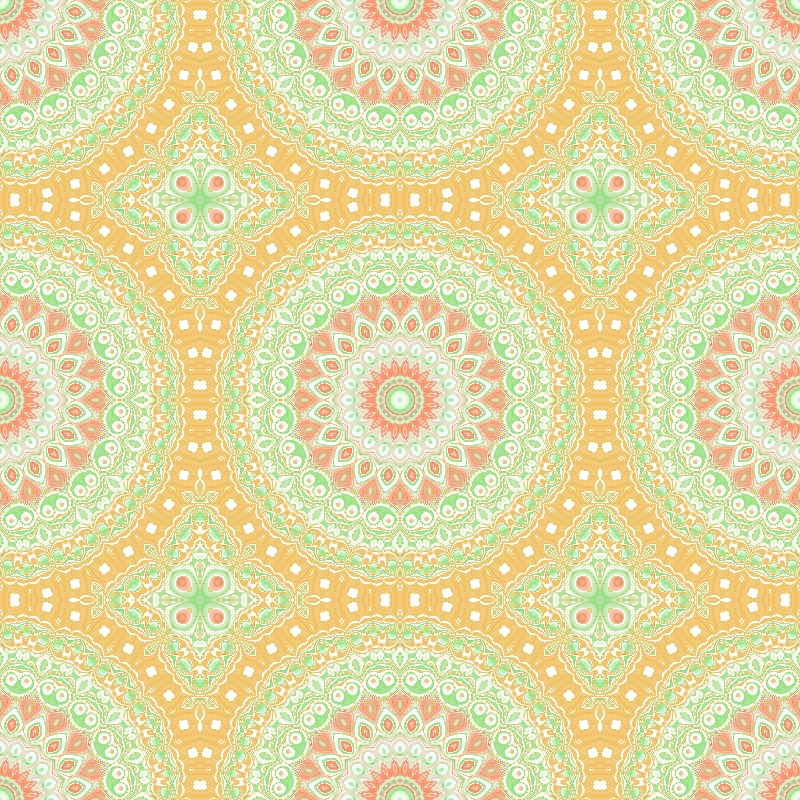 Mandala Orange  Green