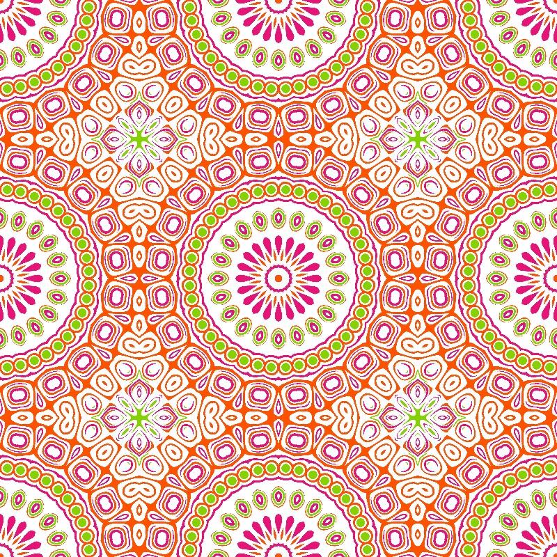 Mandala Pink Orange Green